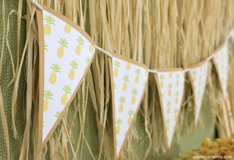 DIY Pineapple Luau Bunting Using We R Memory Keepers Banner Punch Board