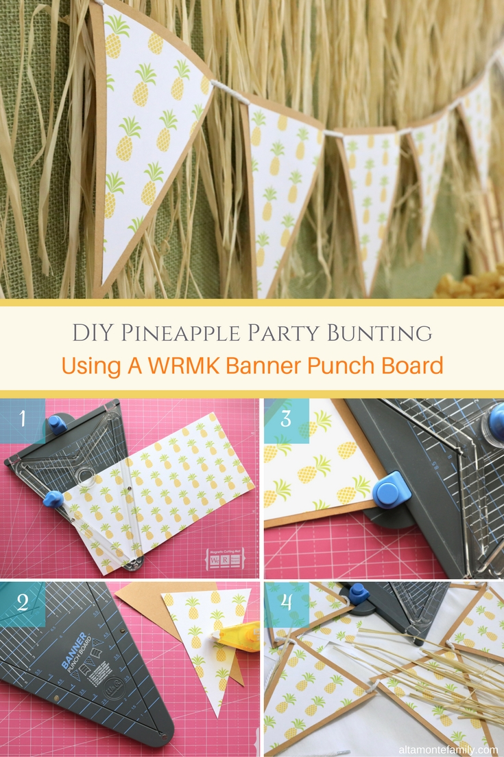 We R Memory Keepers Banner Punch Board Tutorial - DIY Bunting For Luau Party