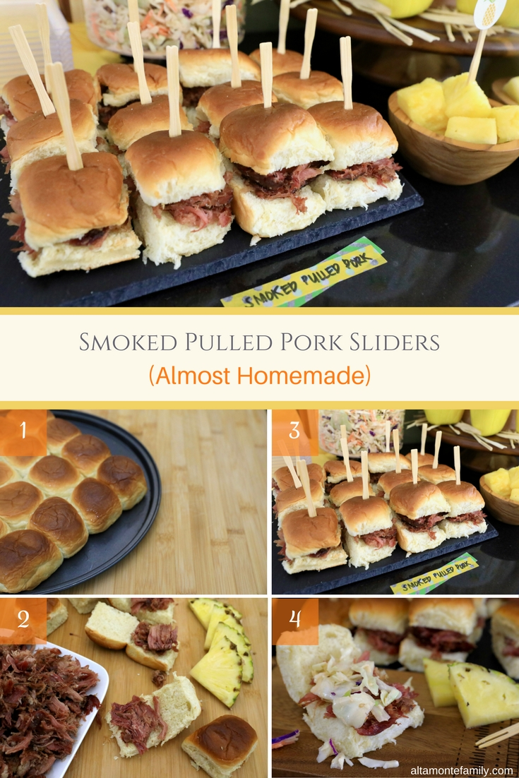 Easy Smoked Pulled Pork Sliders Recipe - Hawaiian Luau Party Food and Decor Ideas