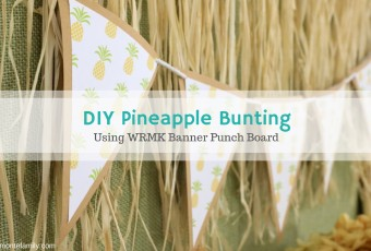 DIY Party Bunting Using The We R Memory Keepers Banner Punch Board