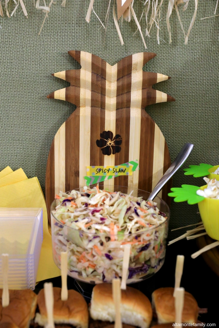 Hawaiian Luau Party Decor and Food Ideas - Spicy Asian Slaw