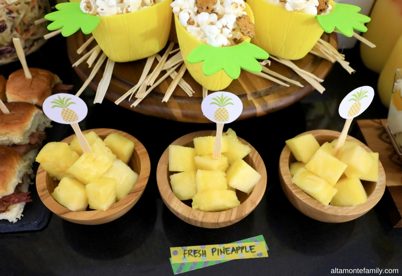 Luau Party Ideas - Hawaiian Food and Decor - Fresh Pineapple