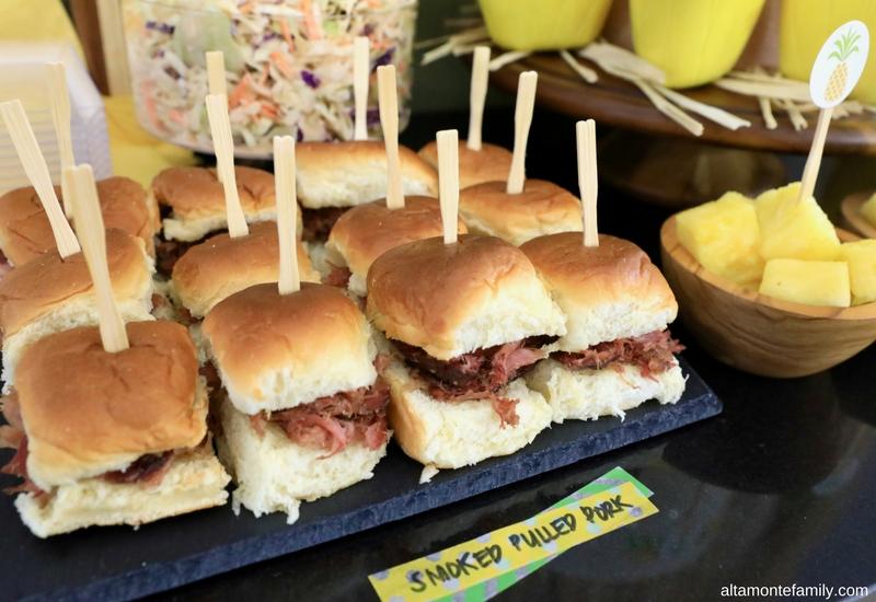 Luau Party Ideas - Hawaiian Food and Decor - Kalua Pig Sliders