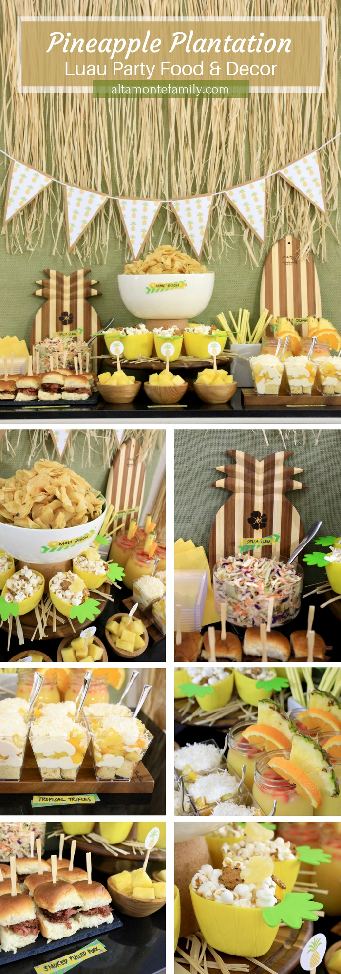 Luau Party Ideas Food and Decor - Pineapple Plantation Theme