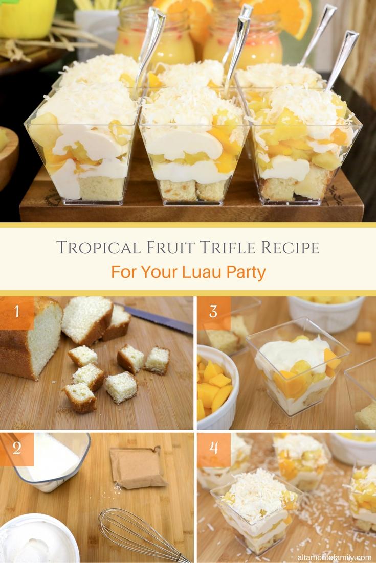Tropical Fruit Trifle Recipe