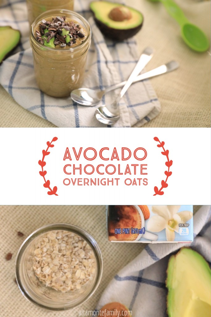 Avocado Chocolate Overnight Oats - Dairy Free Recipe