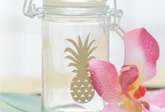 DIY Pineapple Gift Jars