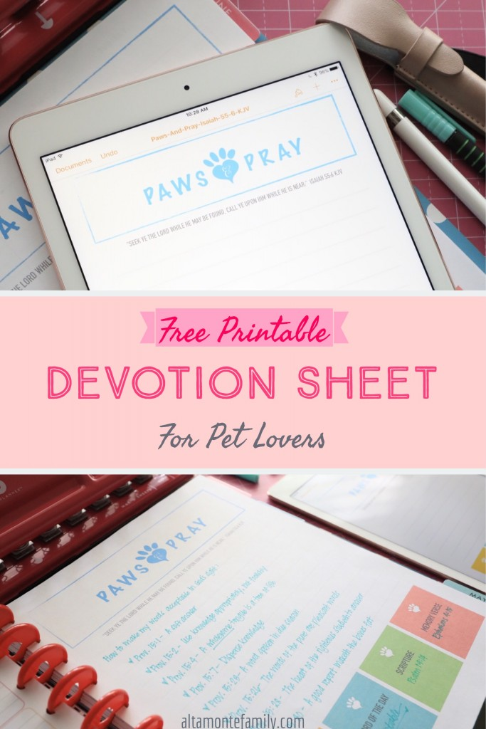 Free Printable Big Happy Planner Devotion Pages Isaiah 55:6 KJV