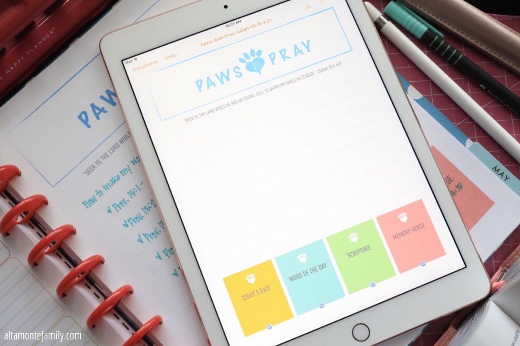 Free Printable Devotion Sheet for Pet Lovers - Big Happy Planner Pages