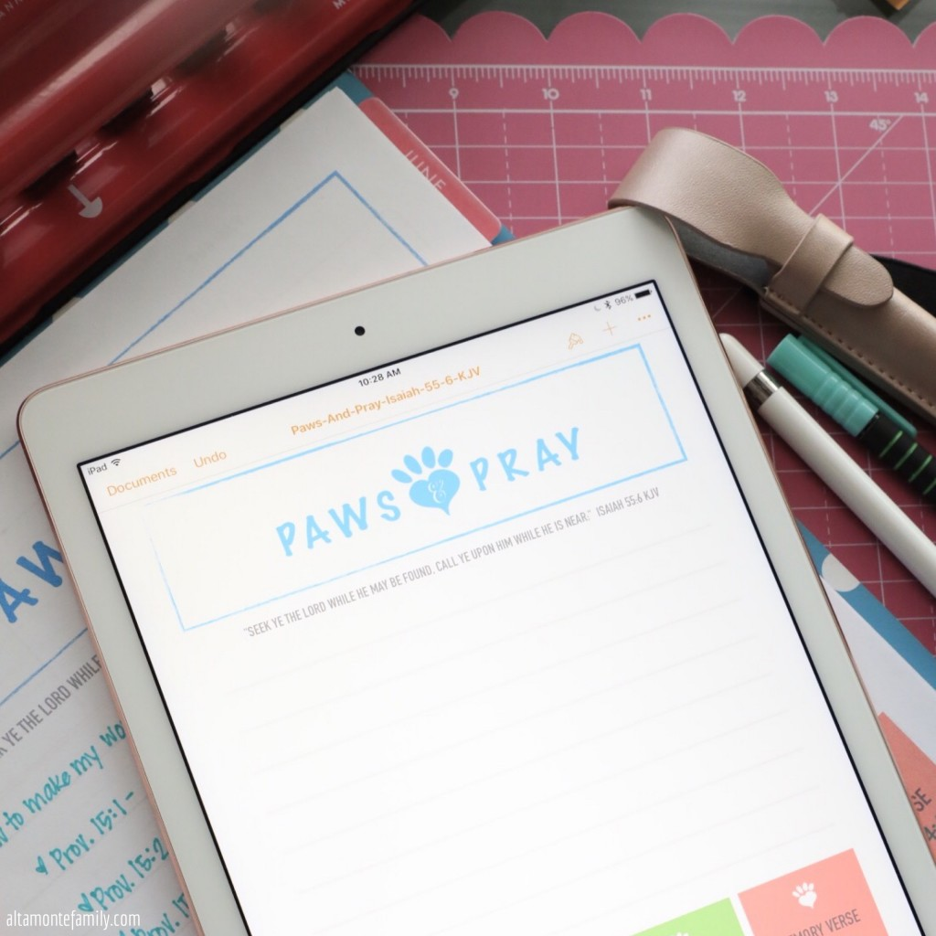 Free Printable Big Happy Planner Pages Devotion Worksheet for Pet Dog Cat Lovers