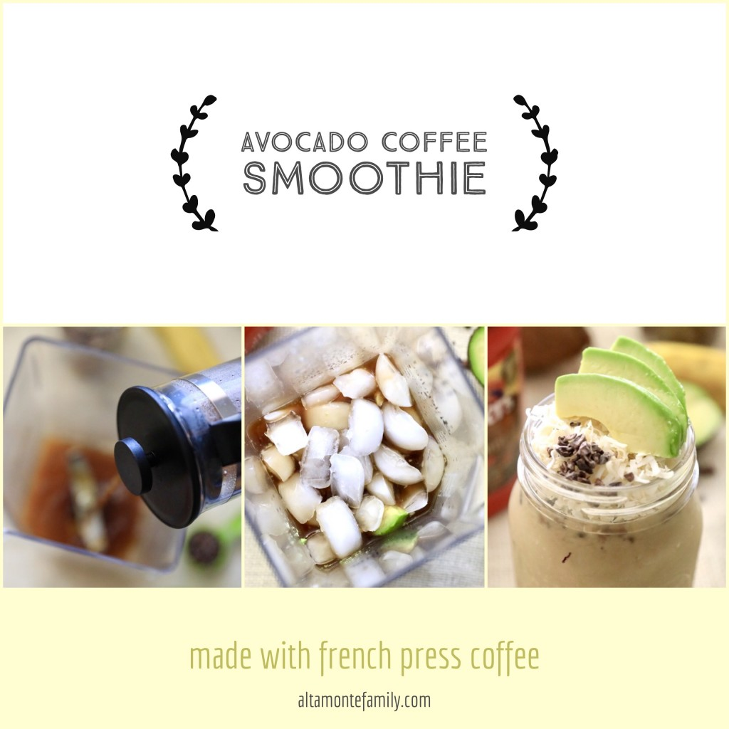 Avocado Coffee Smoothie Recipe - French Press Coffee Tutorial