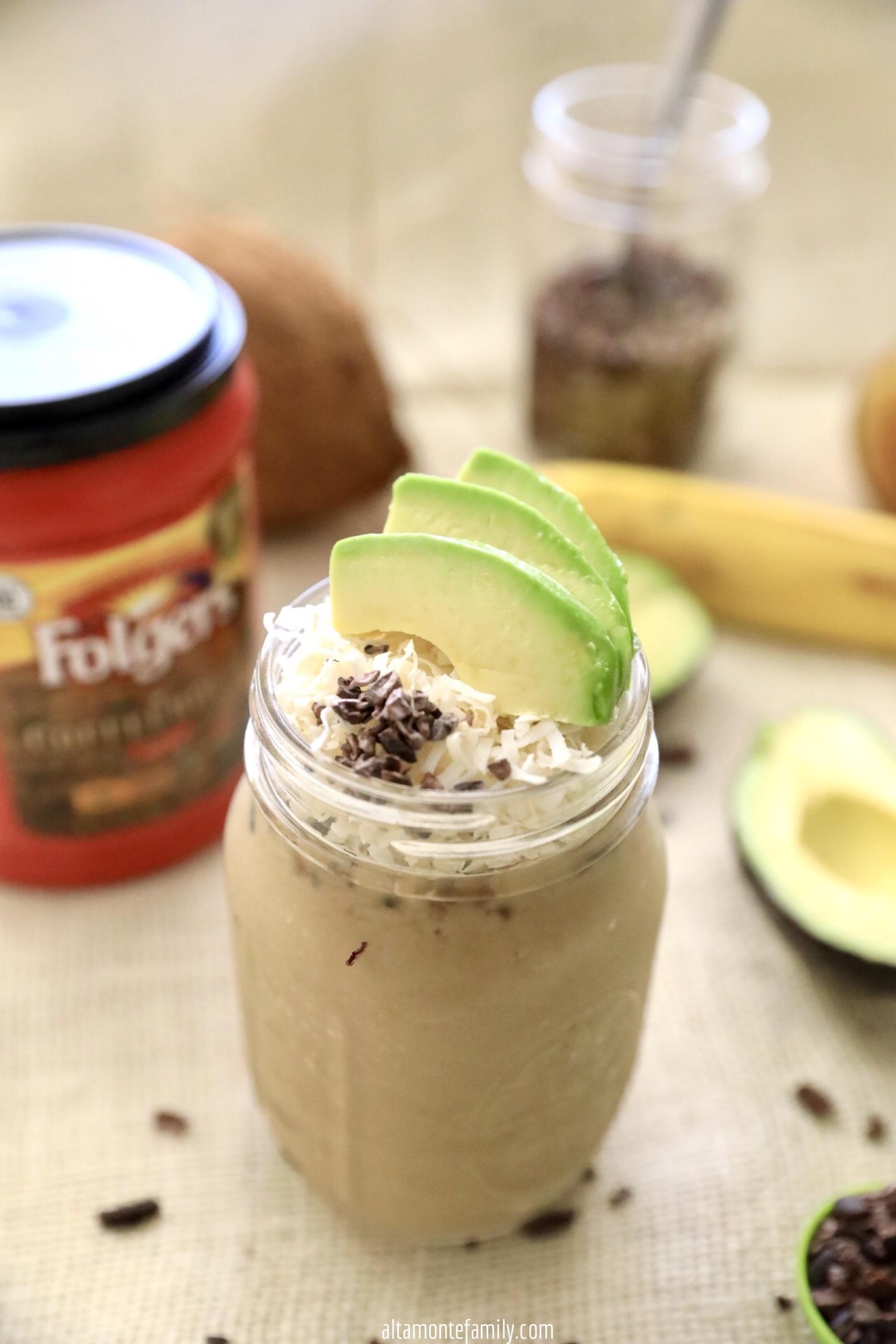 Avocado Coffee Smoothie Recipe - French Press Coffee