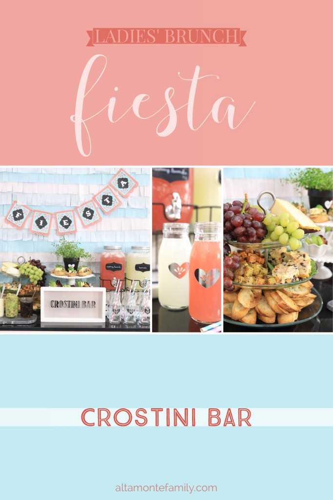 Fiesta Crostini Bar Ladies' Brunch Party Ideas - Mother's Day