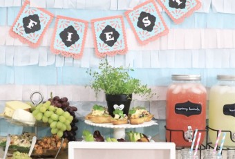 Mother's Day Brunch Ideas - Fiesta Crostini Bar Recipes - Pastel Party Decor