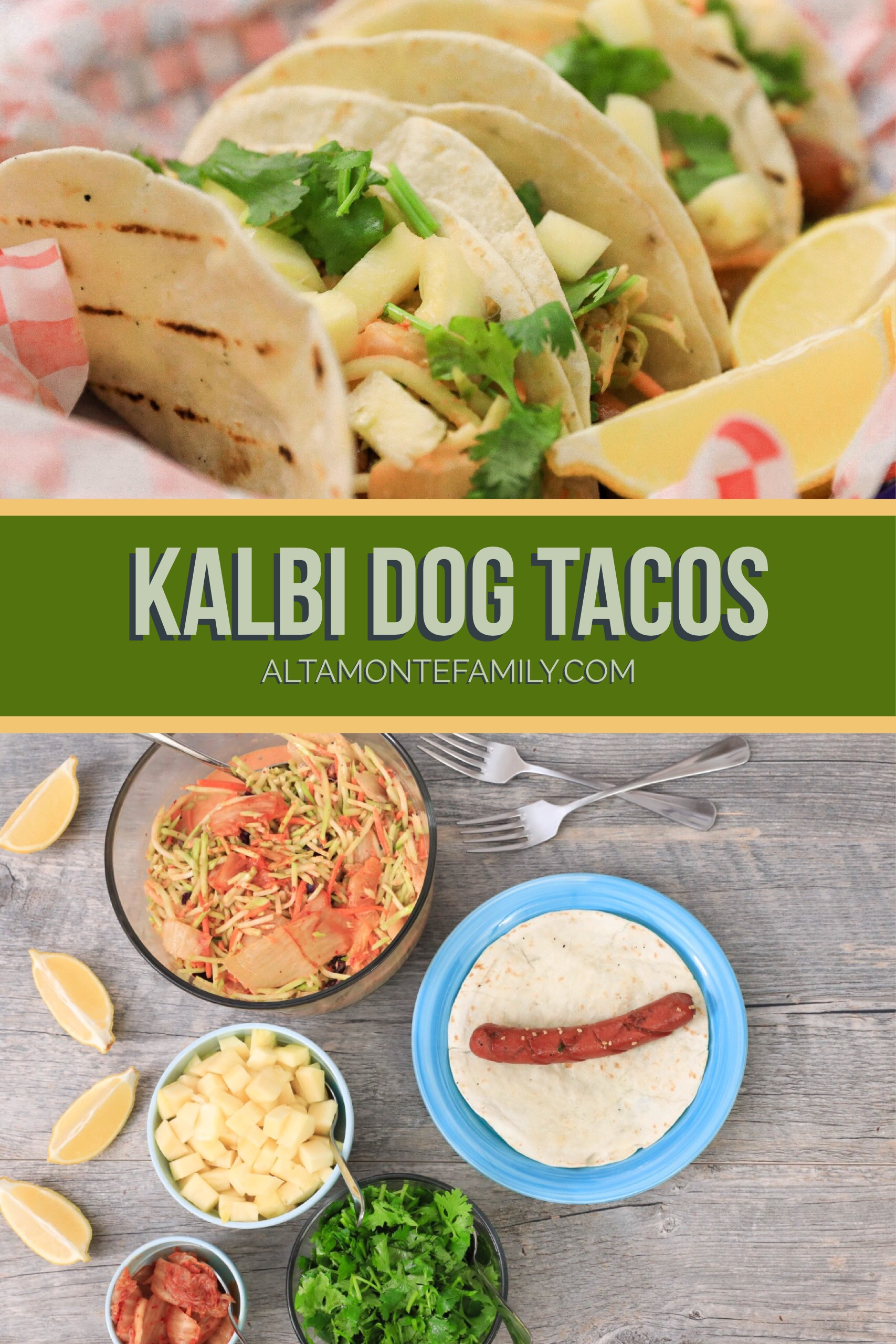 Kalbi Dog Tacos Hotdog Recipe - Korean BBQ Summer Grilling Ideas