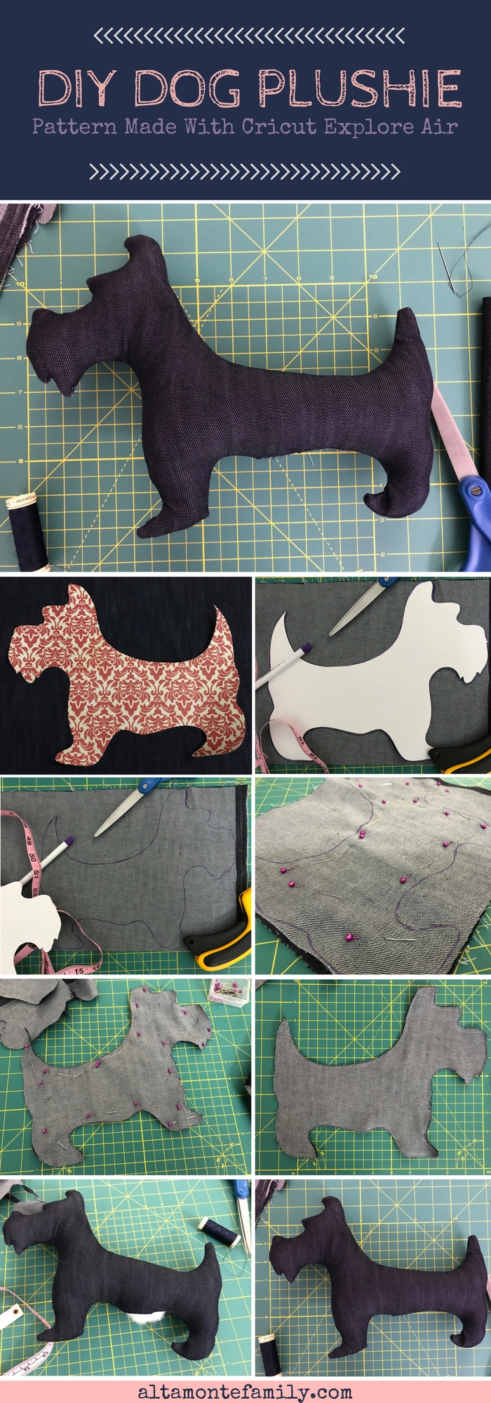 Cricut Explore Air Sewing Pattern - DIY Dog Plushie - Kids Craft Ideas
