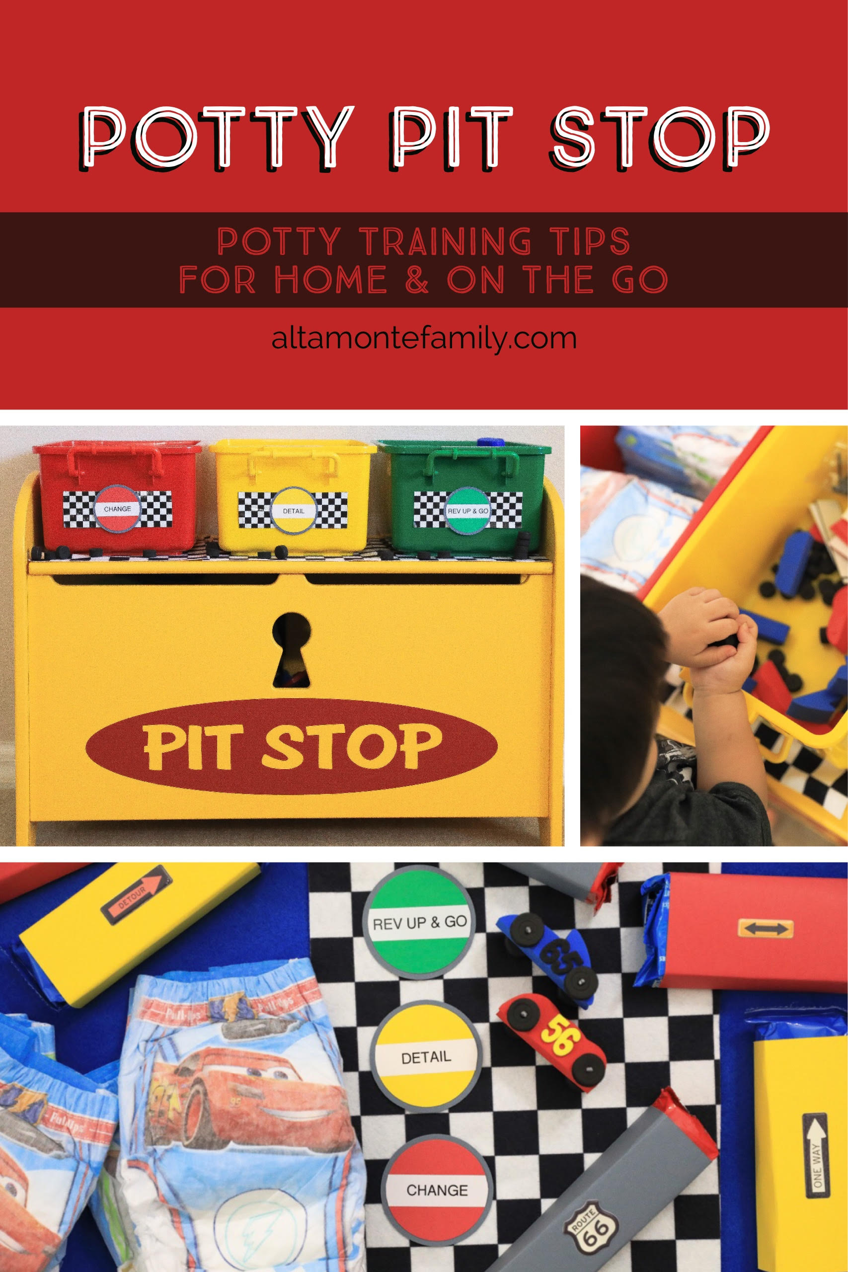 Potty Training Station Tips Ideas For Toddler Boys Race Car Pit Stop Toy Chest