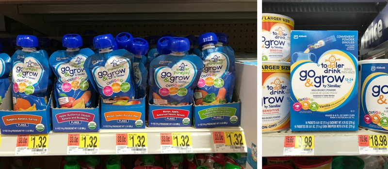 Similac Go and Grow Toddler Pouches and Drink For On The Go Families