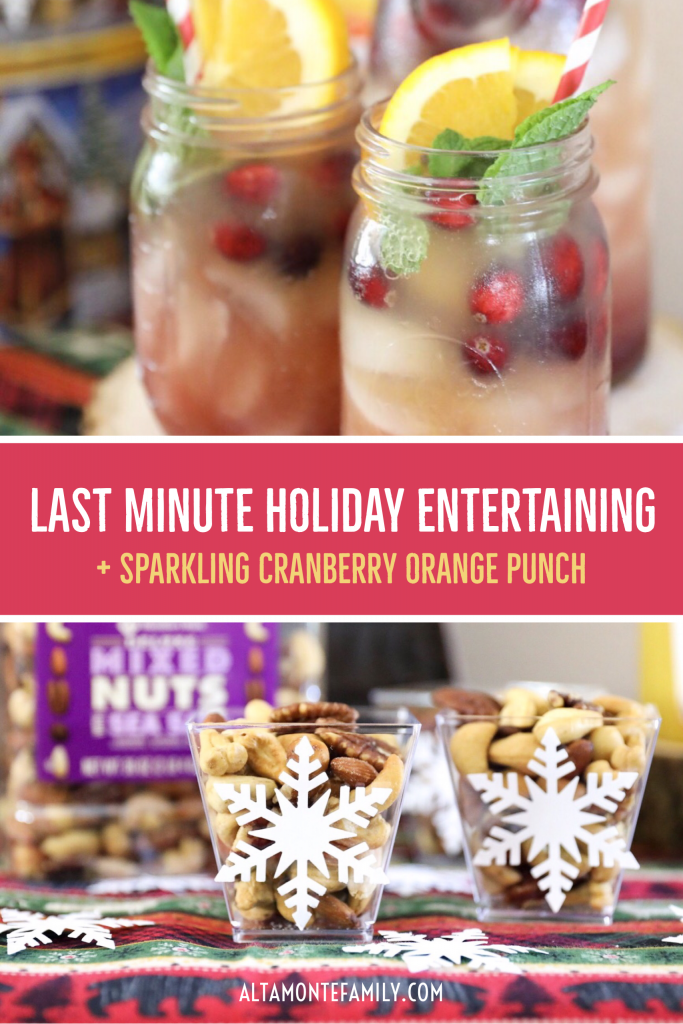 Holiday Drink Recipe - Sparkling Cranberry Orange Punch