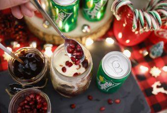 Pomegranate Strawberry Ice Cream Float Recipe - Holiday Drinks Non Alcoholic Christmas drinks