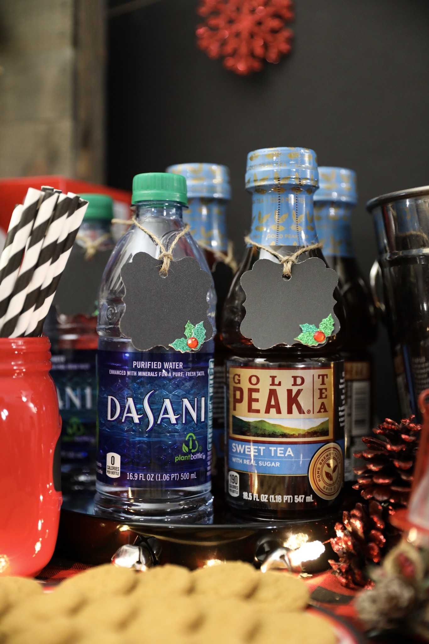 Rustic Holiday Beverage Labels - Christmas Entertaining Ideas