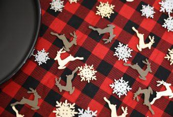 Rustic Holiday Decor - Plaid Tablecloth Ideas