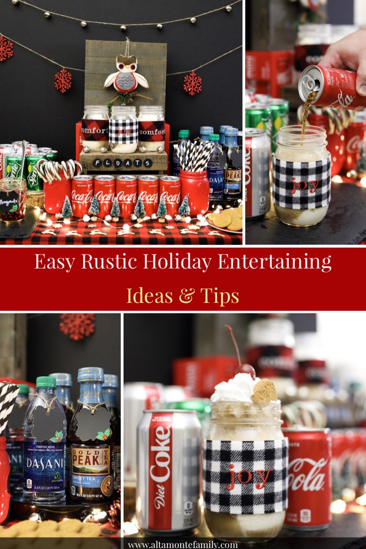 Rustic Holiday Entertaining Ideas - Christmas Mason Jar Drink Recipe