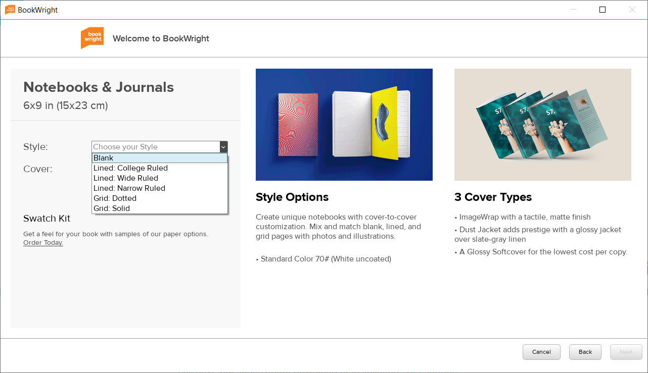 How To Create A Custom Notebook with Blurb BookWright
