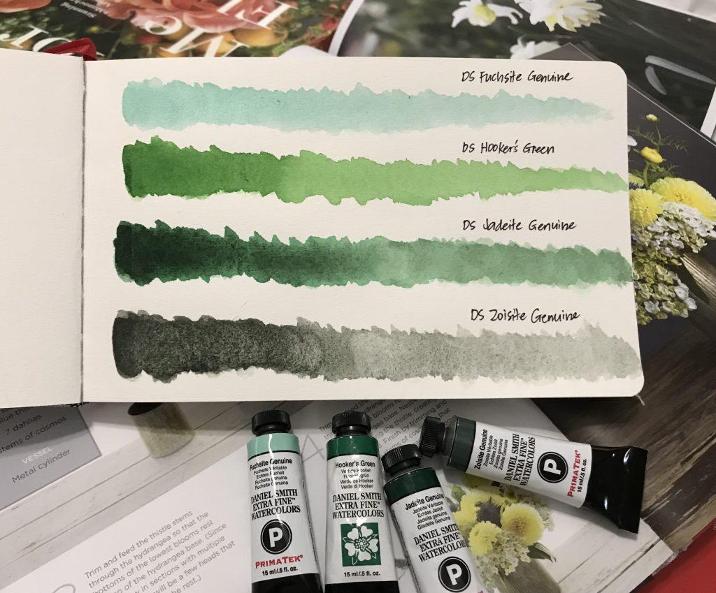 Daniel Smith Watercolor Greens - A Closer Look