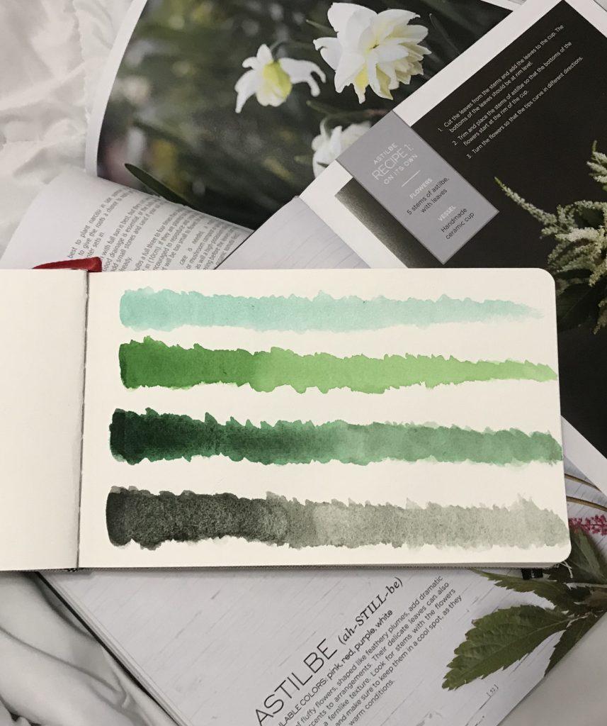 Daniel Smith Watercolor Greens - Comparison